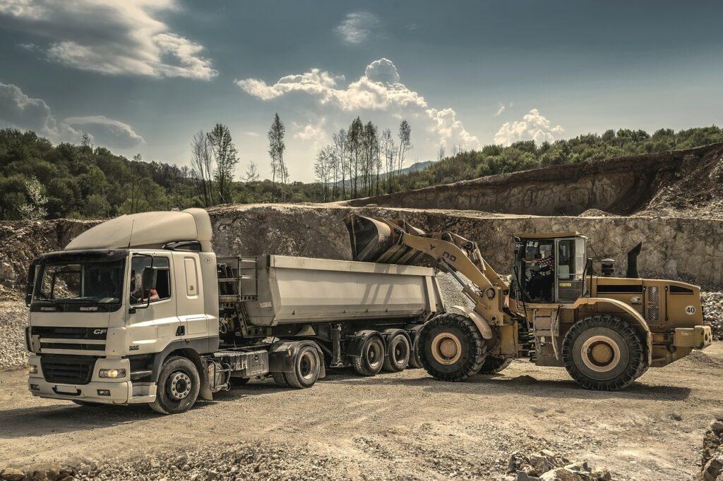 digger, excavator, engine